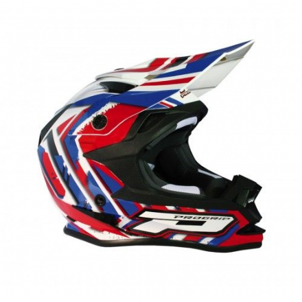 Progrip 3191 ABS Helmet Red White Blue